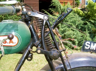 1929 BSA Sloper motorcycle - early-type forks