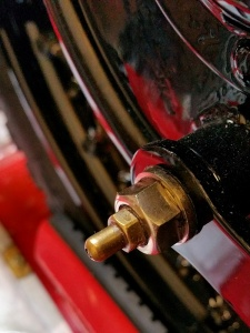 1929 BSA Sloper motorcycle, tubular grease nipple
