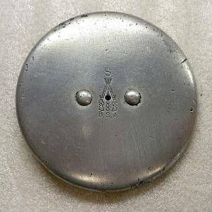 1929 BSA Sloper motorcycle petrol cap, stamped Model S