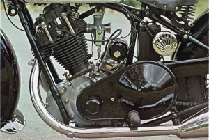 Drive Side of 1939 BSA Sloper Motorcycle