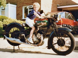 BSA Sloper motorcycle SM7741 in 1993. Taxed, MoT'd and largely original.