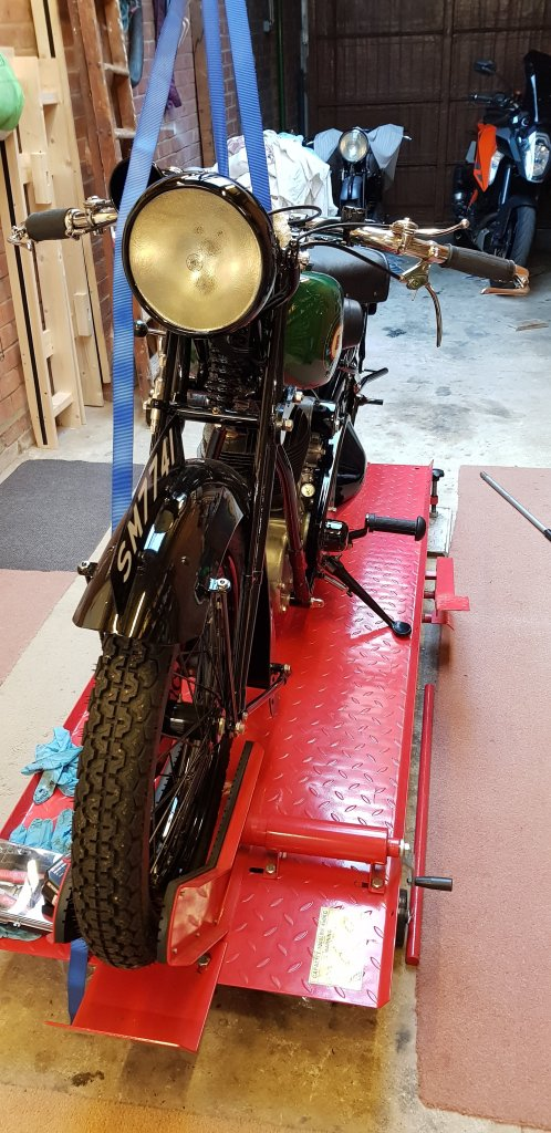 BSA Sloper Side Stand at 'Proof of Concept' Stage