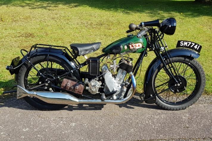Restored 1929 BSA Sloper S29 Deluxe